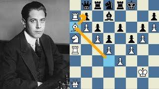 OBRA SUBLIME DEL MAESTRO Capablanca vs Treybal Karlsbad 1929