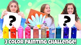 3 Color Painting Challenge at a Painting Studio!