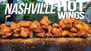 NASHVILLE HOT WINGS (SMOKED THEN DEEP FRIED!) | SAM THE COOKING GUY