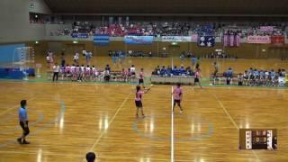 5日 ハンドボール女子 国体記念体育館 Dコート 昭和学院×福井商業 1回戦 1