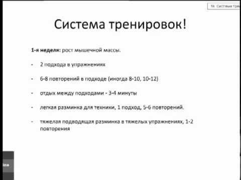 Программа тренировок от В.