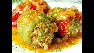 Фаршированный перец мясом и рисом .Замороженный перец  фаршируем.\stuffed pepper/farshiruem pepper