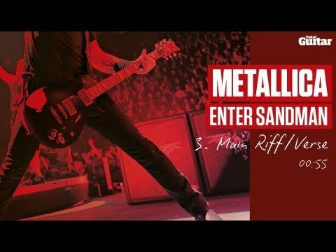 Guitar Lesson: Metallica 'Enter Sandman' -- Part Three -- Main Riff/Verse (TG213)