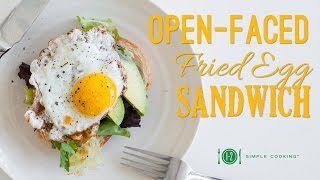 Open-faced Egg Sandwich   1-2 Simple Cooking