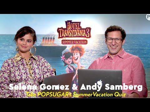 Selena Gomez & Andy Samberg Take POPSUGAR's Summer Vacation Quiz