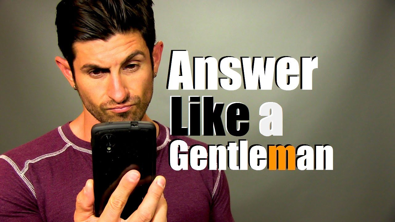How to answer the phone like a gentleman greeting and voicemail how to answer the phone like a gentleman greeting and voicemail youtube m4hsunfo