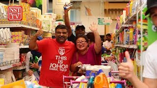 TMJ shows up in Aeon Tebrau City, buys everyone grocery