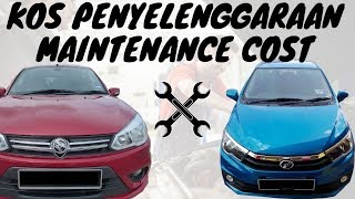 Zul Reviews Saga 1.3 CVT vs Bezza 1.3 AT Maintenance Cost Kos Penyelenggaraan 2019 Review Jujur