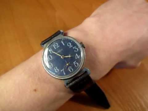 Обзор старые винтажные механические часы СССР Луч Полет Молния .