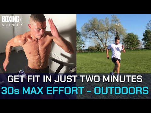 How to get FIT in Just TWO MINUTES!!! 30s max effort sprints