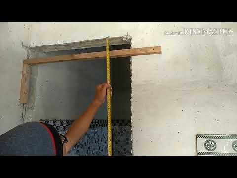 Proses pengerjaan kamar mandi bagian 3.....pemasangan pintu kamar mandi