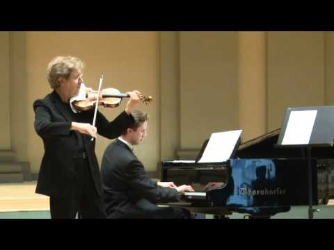 "PIERRE AMOYAL & DARIUS MAZINTAS - C.Debussy - J.Heifetz ""Beau soir"""