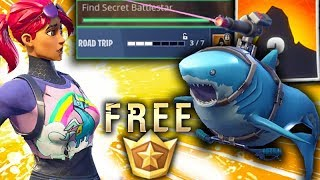 FORTNITE Secret Free Battlestar Week 3 with Laser Chomp / Road Trip rewards [Season 5]