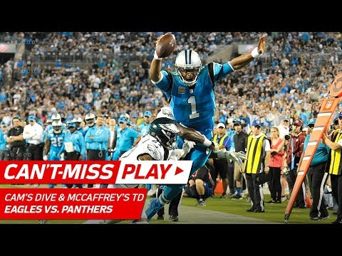 Cam Newton's Amazing SUPERMAN Dive Sets Up McCaffrey's TD! | Can't-Miss Play | NFL Wk 6