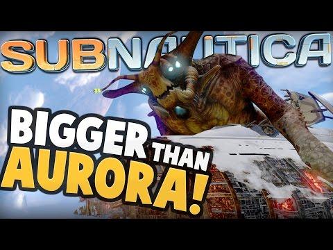 Subnautica - SEA EMPEROR BIGGER THAN AURORA! Sea Emperor Animations & Full Size - Subnautica Update