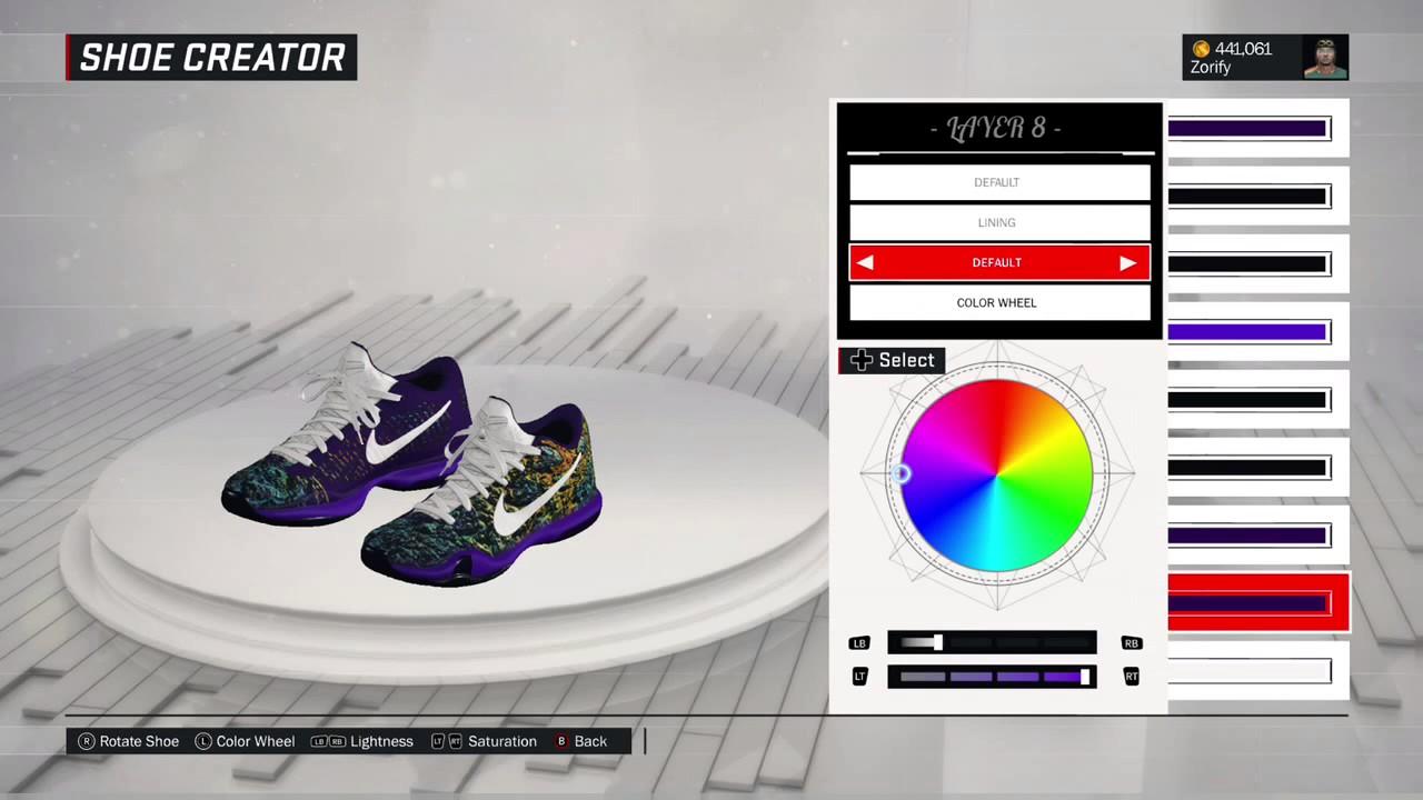6b53f90b782 NBA 2K17 Shoe Creator - Nike Kobe 10 Elite Low PE