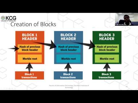 Alumni Webinar series 8- Newbies Approach to Blockchain Technology- Department of CSE