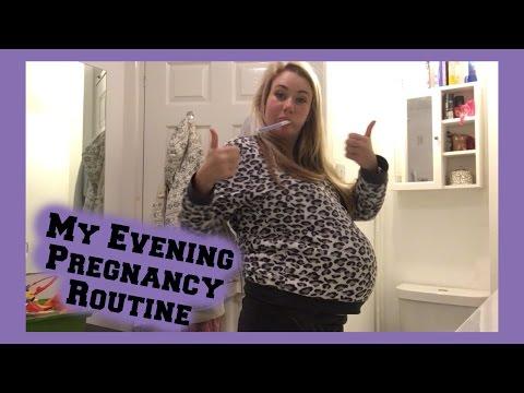 Pregnancy Evening Routine - Full Term