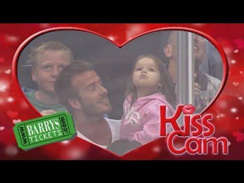 Warning: Watching David Beckham on This Kiss Cam Video May Make Your Heart Explode