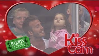David Beckham on LA Kings Kiss-Cam