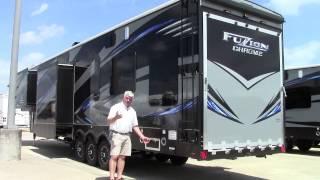 New 2016 Keystone Fuzion 422 Fifth Wheel Toy Hauler RV Holiday World of Houston, Dallas & Las Cruces