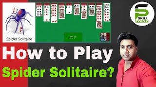 How to play spider solitaire in windows 7 | Spider solitaire game in windows