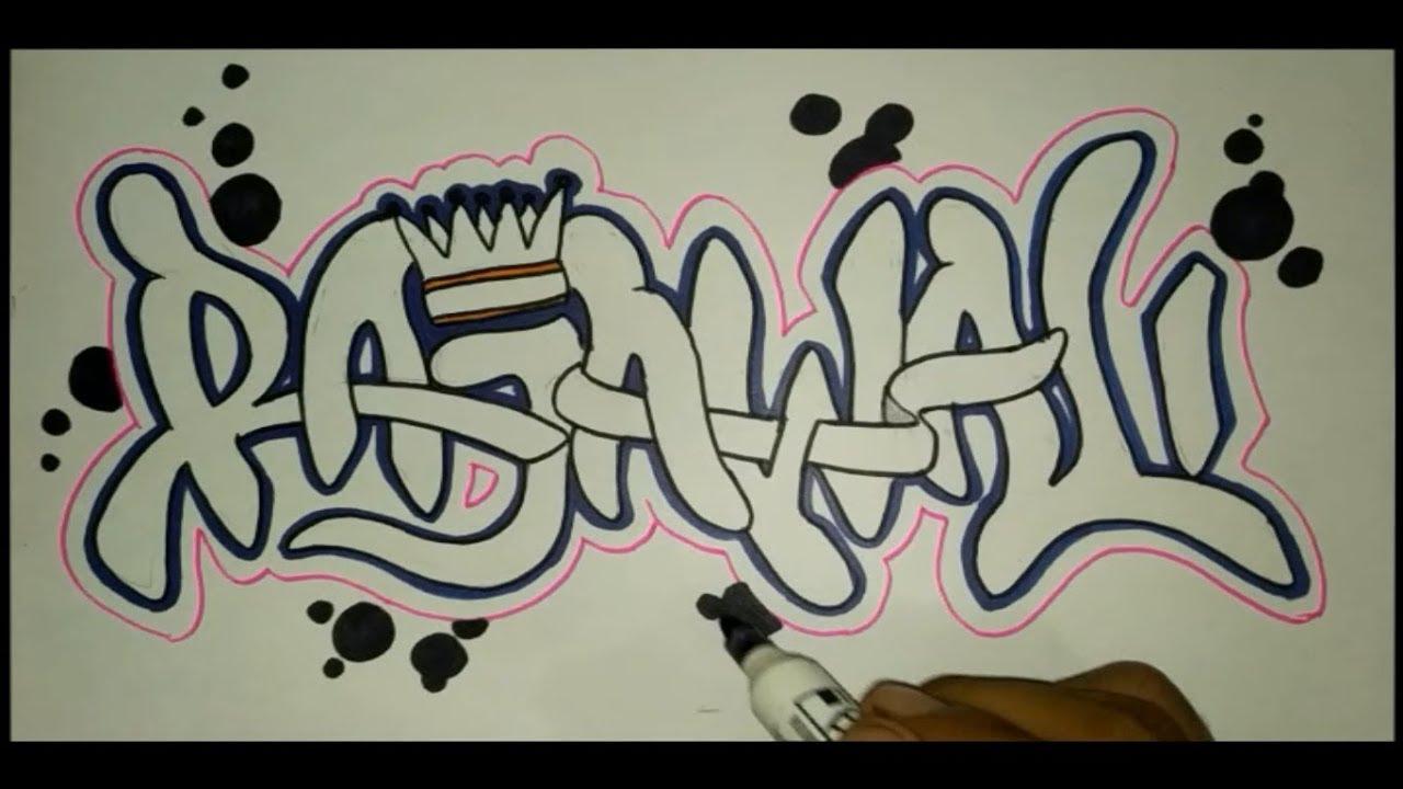 Membuat Graffiti Nama Rajawali