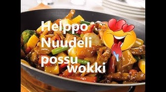 Sonantti keittiössä! #9 Helppo nuudeli possu wokki!