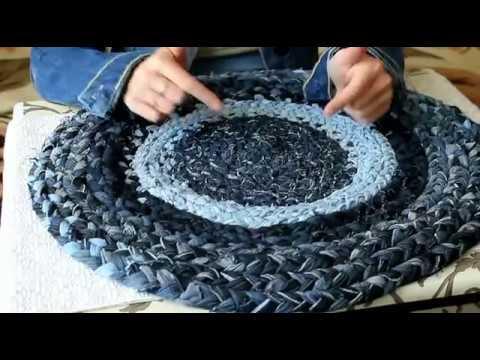 Как сшить коврик из старых джинсов