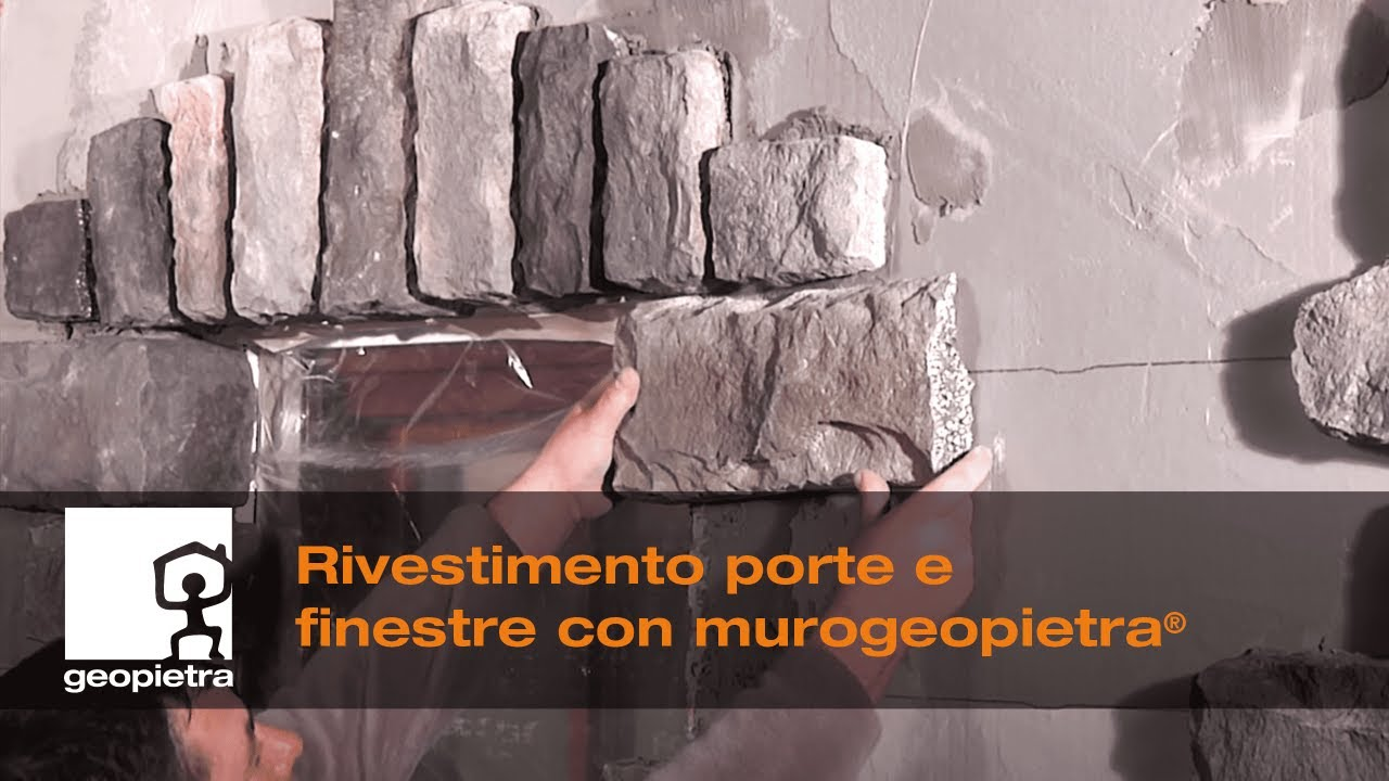 Come Rivestire Pilastri Esterni geopietra® - rivestimento porte e finestre - official video 🇮🇹