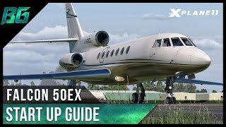 Carenado Falcon 50EX - Start Up (Tutorial)  