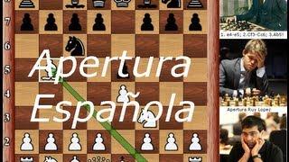 AJEDREZ - Apertura Española - Ajedrez Aperturas - Ruy Lopez MI Fermin Gonzalez