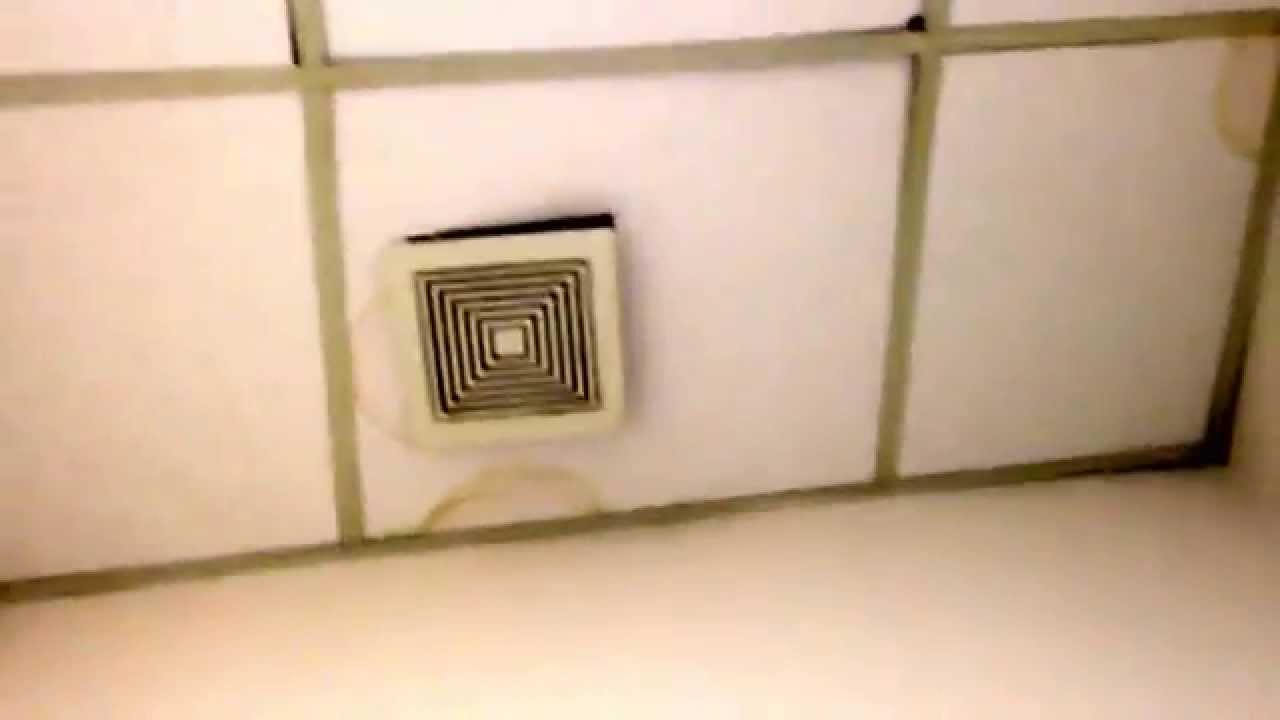 Beat up broan nutone bathroom exhaust fan youtube for 2 bathroom exhaust fan venting