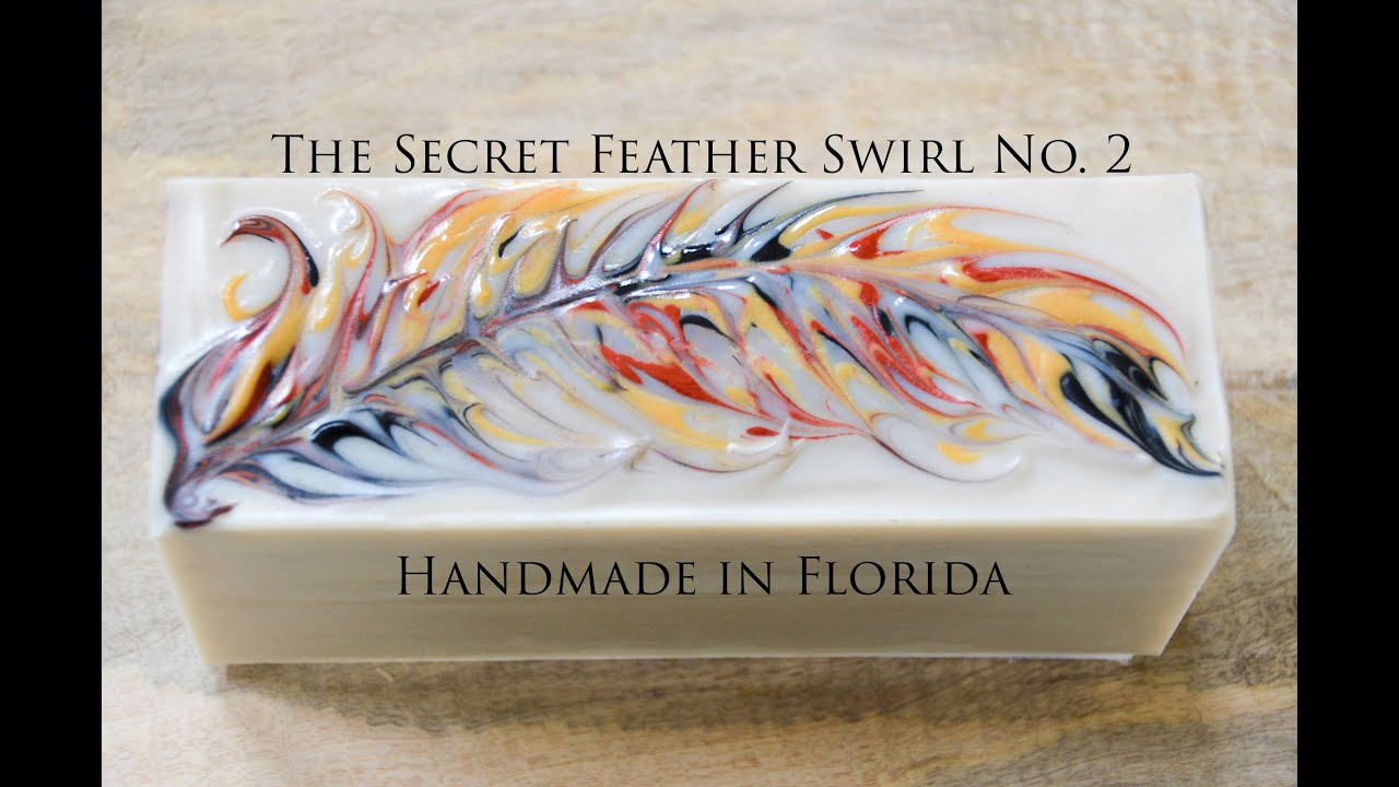 Secret Feather Swirl Cold Process Soap Making - YouTube