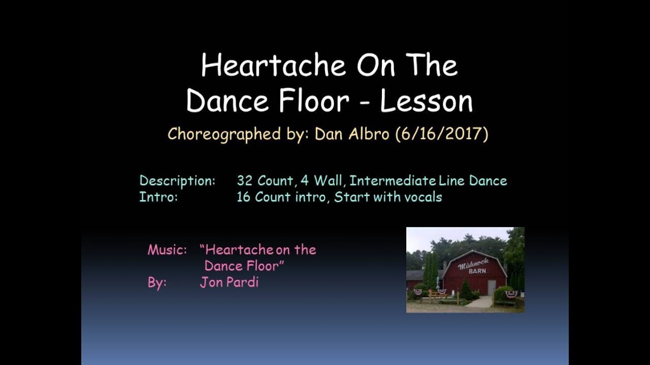 the dance floor descriptive essay Music video by jon pardi performing heartache on the dance floor.