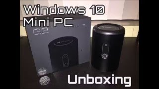 unboxing pugo top g2 windows 10 mini pc