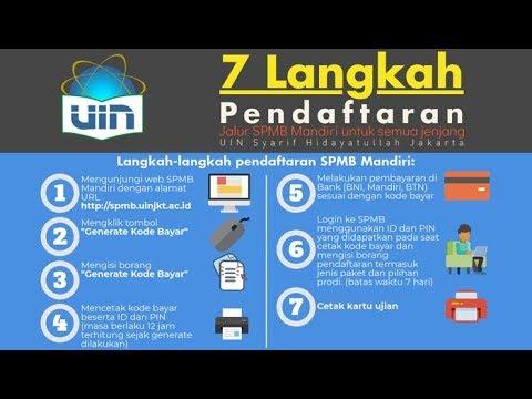 Tutorial Video Cara Daftar SPMB Mandiri UIN Syarif Hidayatullah Jakarta