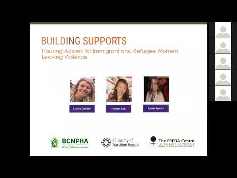 Building Supports: Housing Access for Immigrant and Refugee Women Leaving Violence Webinar
