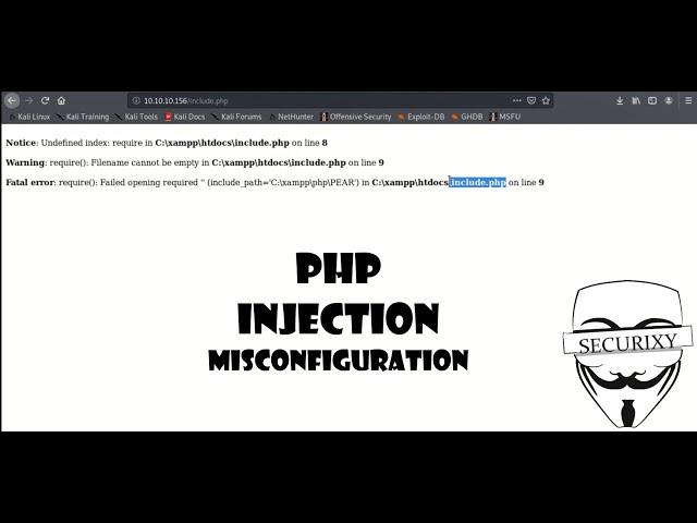 PHP инъекция UPLOAD через INCLUDE