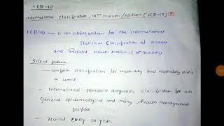 International classification of disease