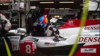 24 heures du Mans 2018 - Arrêt au stand de la Toyota #8