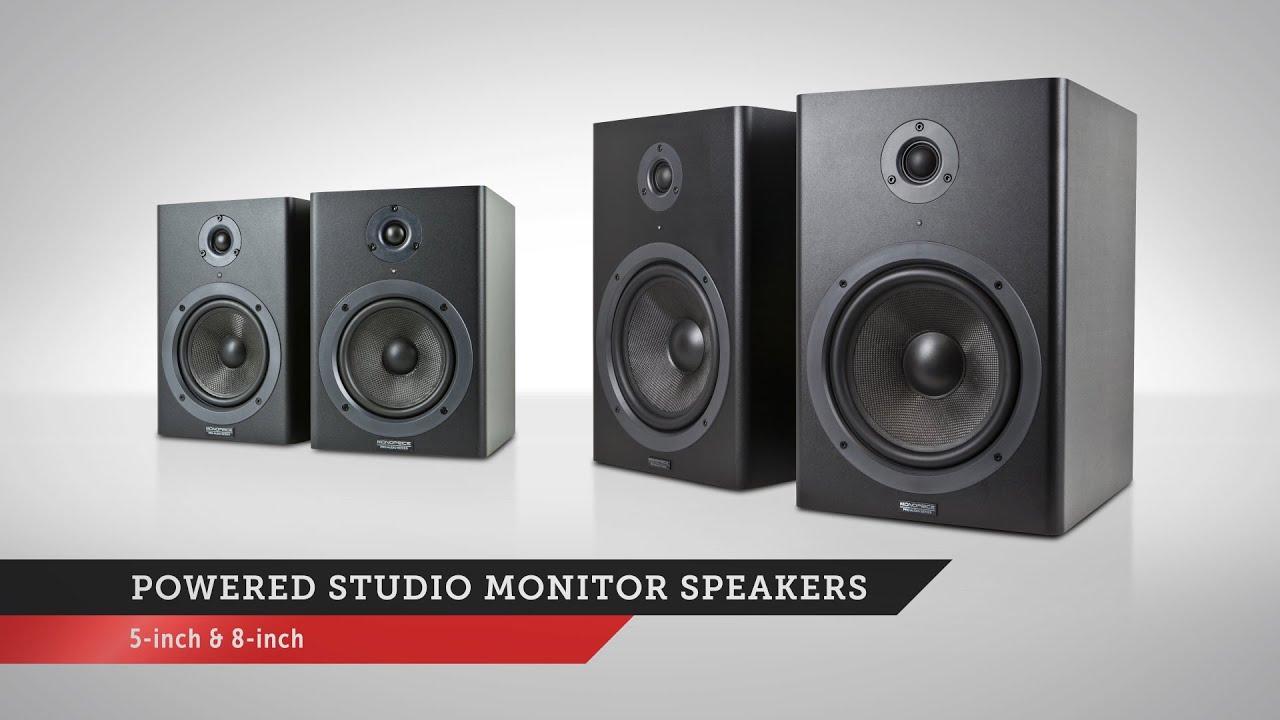 Monoprice 8in Powered Studio Multimedia Monitor Speakers (pair