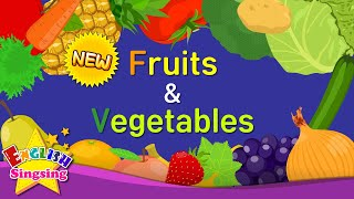 Kids vocabulary - [NEW] Fruits & Vegetables - Learn English for kids - English educational video