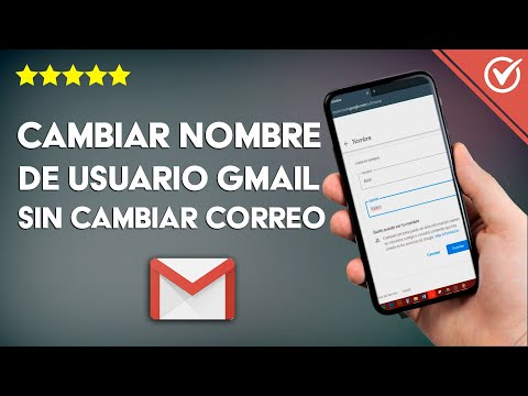 Cambiar mi Nombre de Usuario de mi Cuenta Gmail o Google sin Cambiar el Correo