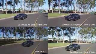 DJI Inspire 1 Pro Features & Zenmuse X5, X3, Panasonic GH4 4K RAW Footage Comparison
