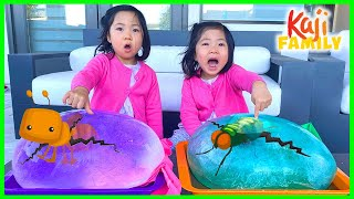 Giant Ice Balloons Melting Animals Easy DIY Science Experiments for kids!!!