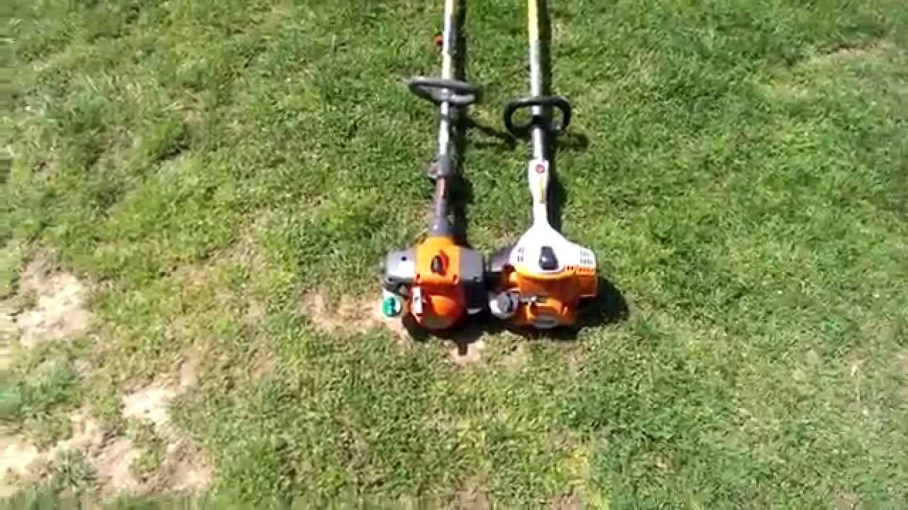 Stihl 56 Vs Husqvarna 128 String Trimmers Youtube