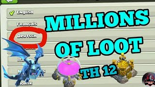 🔥 ⚡ HOW TO GET BIGGEST LOOTS IN IN TH 12 AN DEAD BASE HINDI IN ⚡2019 🔥 /CLASH OF CLANS /🔥