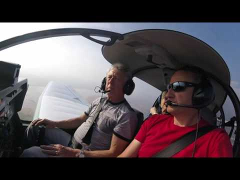 Pat and Tony's flight over South Devon