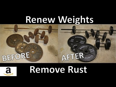 How To Renew Weights and Remove Rust - Dumbbell, Barbell, Plates (CHEAPEST AND FASTEST WAY)